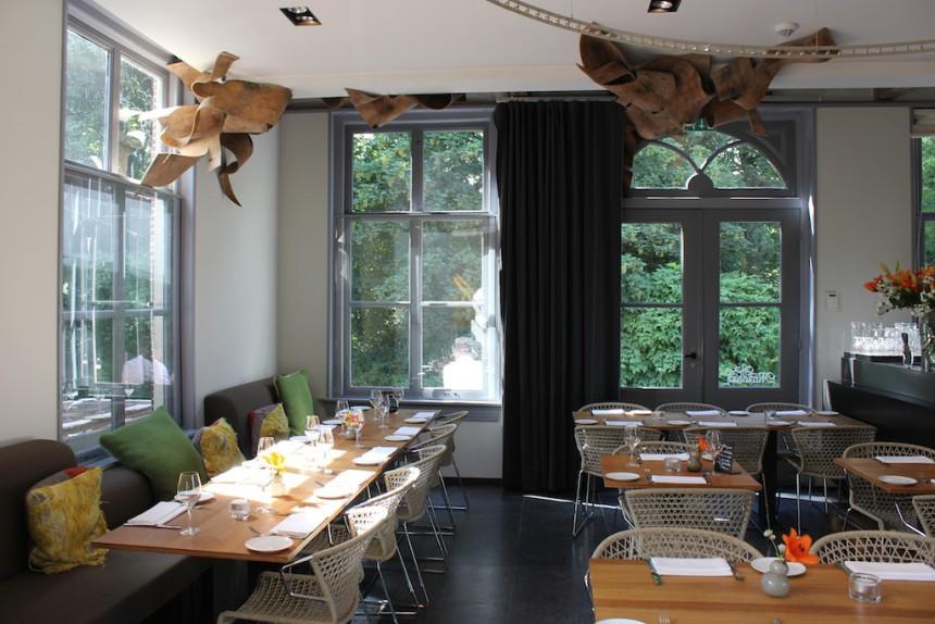Restaurant Merkelbach Amsterdam biologisch puur uit eten duurzaam interieur