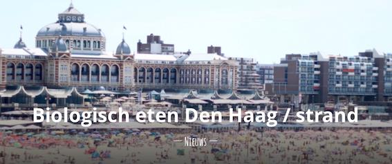Biologisch eten Den Haag - strand zwarte pad scheveningen duurzaam strandpaviljoens