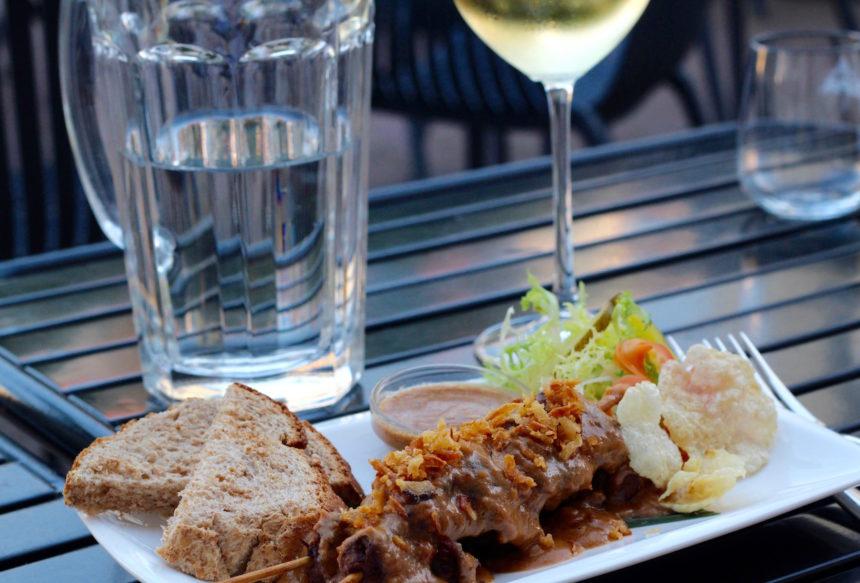 Vegetarische saté Restaurant Hortus Den Haag