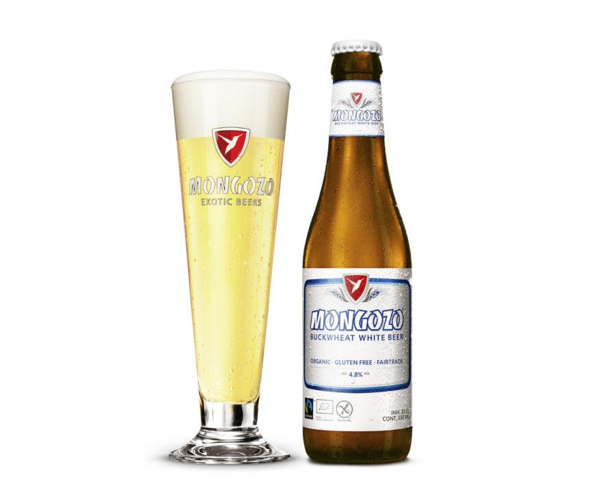 Mongozo witbier biologisch fairtrade glutenvrij bier