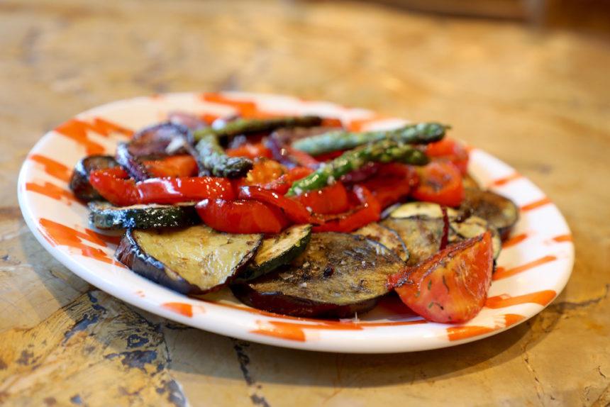 Es Rebost Palma de Mallorca restaurant gegrilde groenten