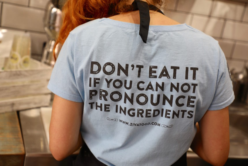 Ziva to Go Palma de Mallorca vegan restaurant food quote michael pollan